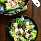 Broccoli and Shrimps in Garlic Sauce