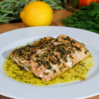 Pan-Seared Salmon with Herbs