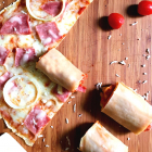 Rolled-up Pizza