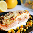 Baked Salmon with Cream cheese