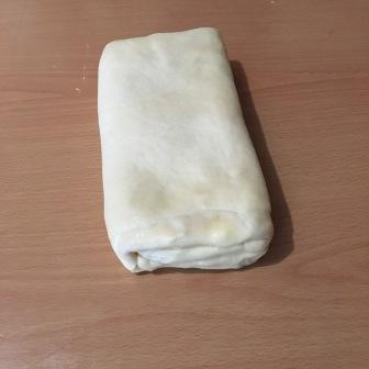 again fold dough