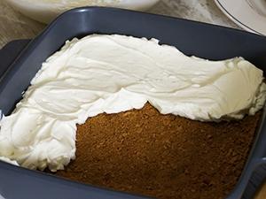 add whipped cream on graham