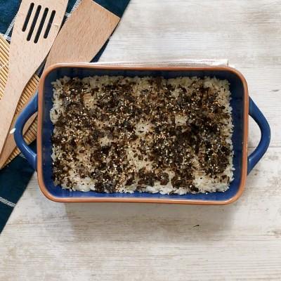 furikake seasoning on rice