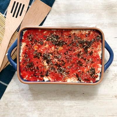 furikake on top of red caviar