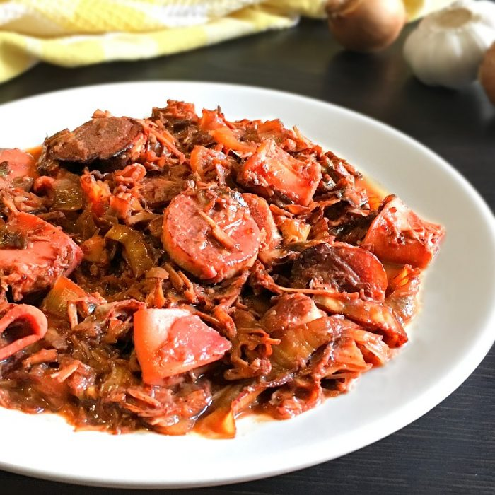 adobong pusong saging on a plate