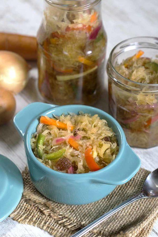 pickled vegetable in jars