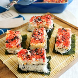 sushi with seaweed wrapper