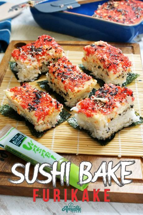 sushi on a chopping board