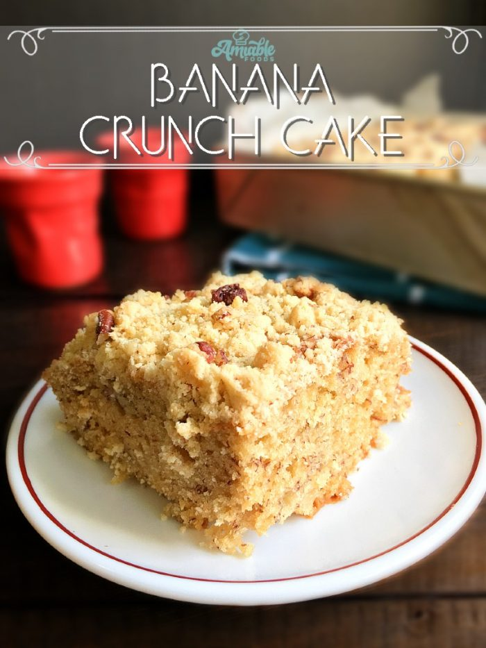 banana crunch cake on table
