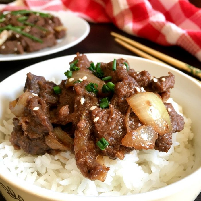 beef bulgogi on rice