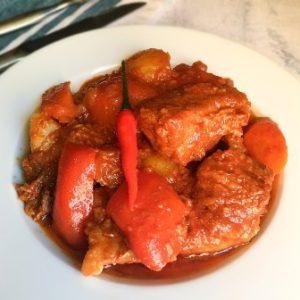 recipe image beef caldereta
