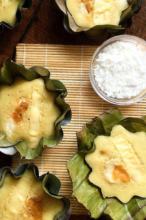 bibingka with grated coconut