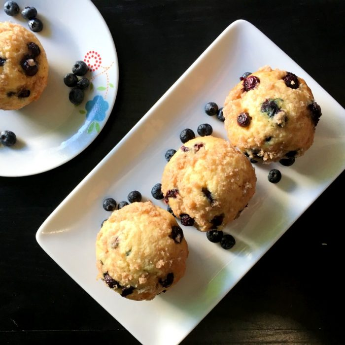blueberry muffin top shot