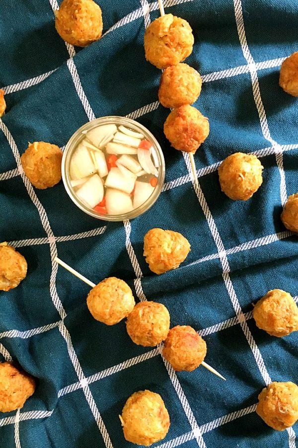 cassava balls with vinegar