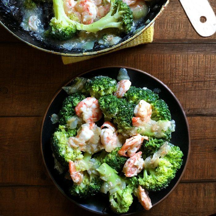 broccoli and shrimps stir fry
