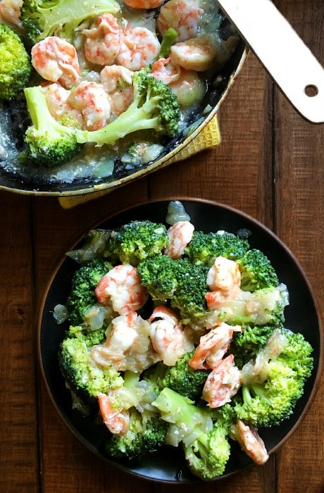 broccoli and shrimps cover image