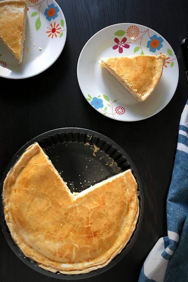 buko pie on pand and plates