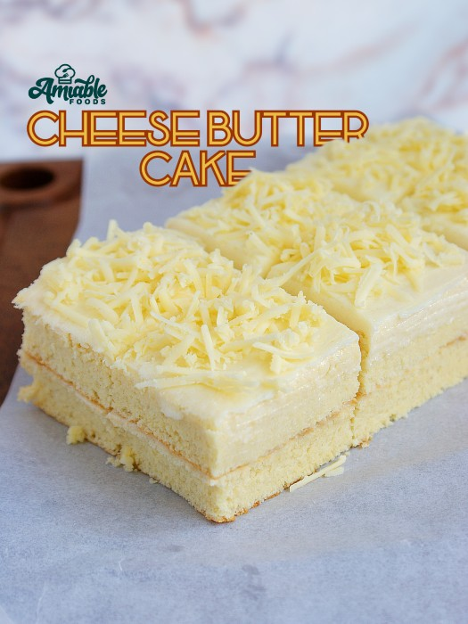 cheese butter cake with cheddar cheese
