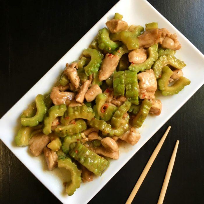 chicken bittergourd chopsticks