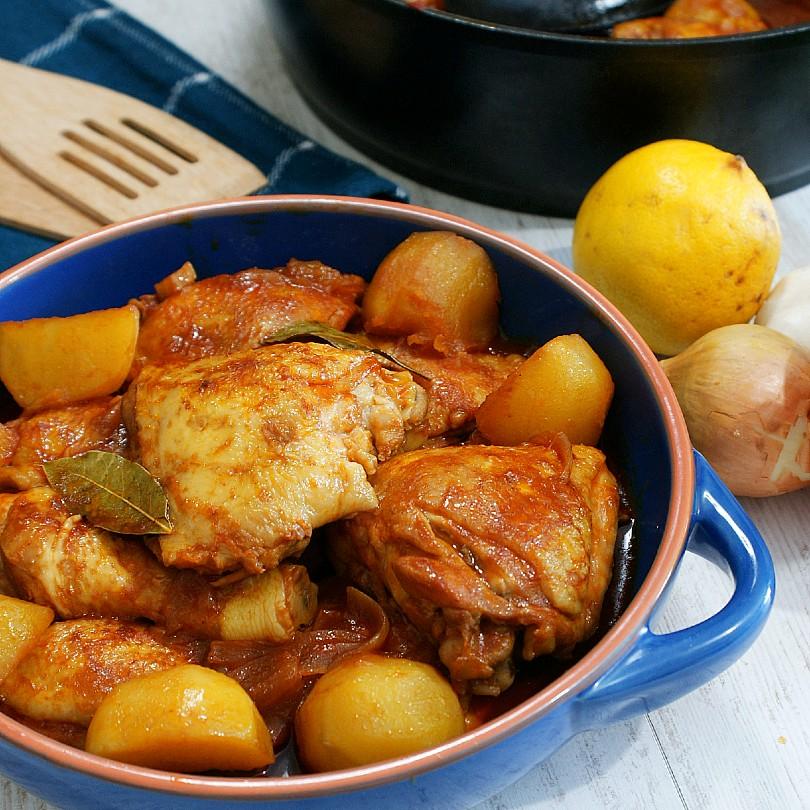 chicken asado with potatoes