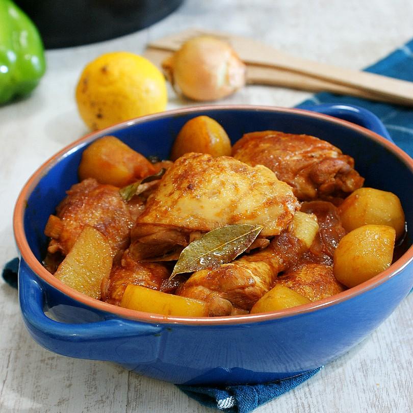 chicken asado in a dish