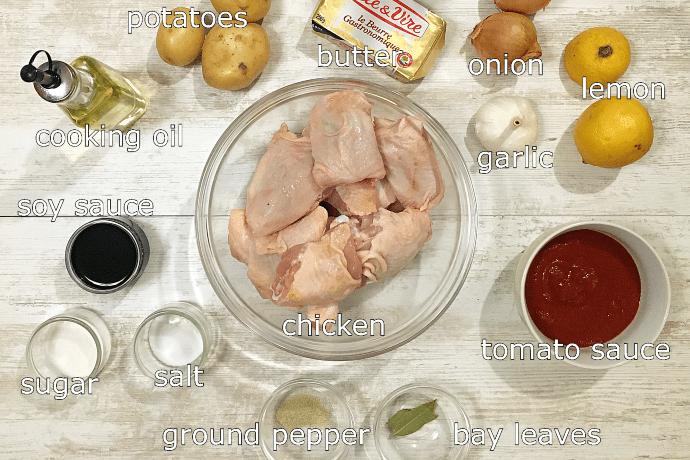 chicken asado ingredients