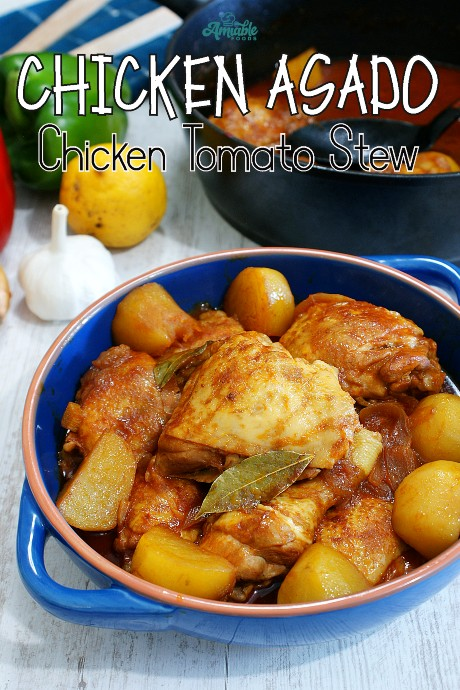 stewed chicken in a dish on top of table