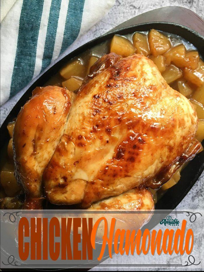 chicken hamonado on top of table