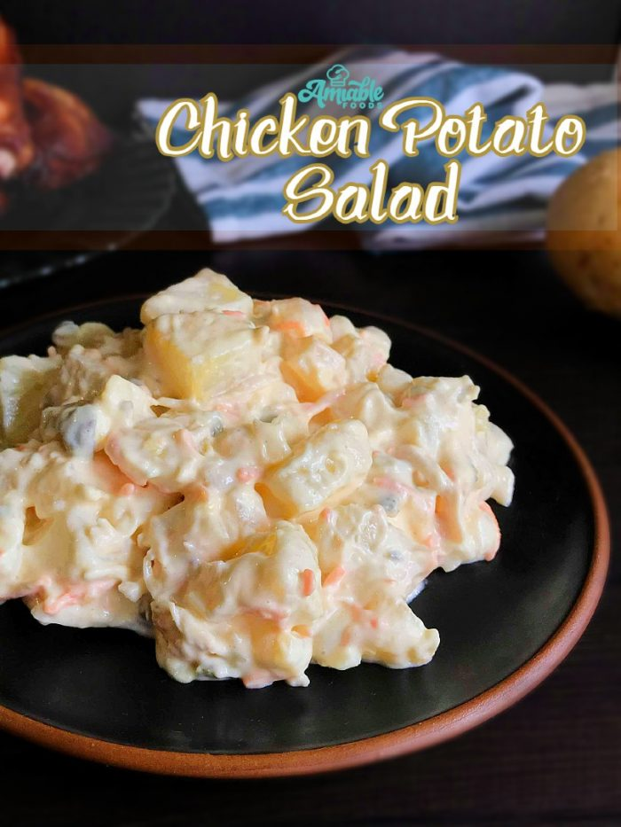 chicken potato salad serve with chicken roast