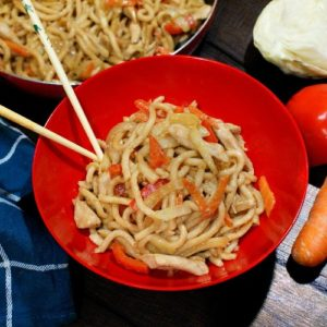 recipe image for chicken udon