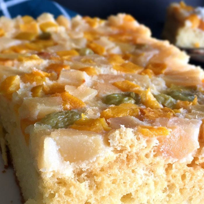 chiffon fruit cake with soft and moist cake