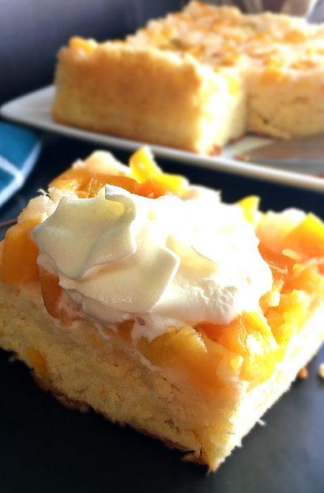 chiffon fruit cake on a plate