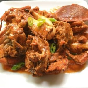 spicy crab in tomato sauce