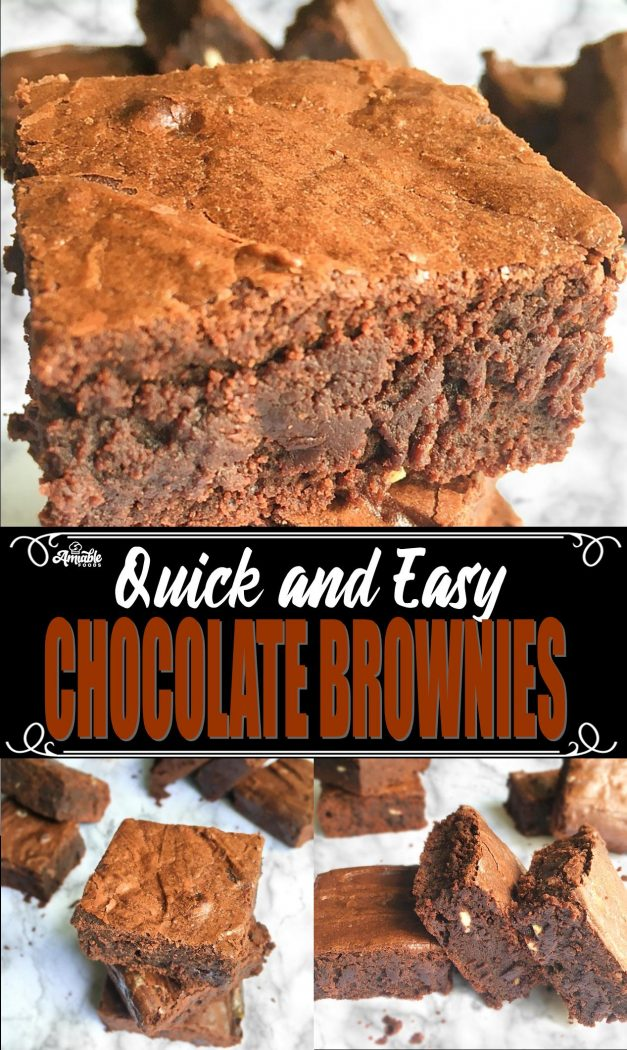 chocolate brownies pinterest image