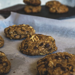 cookies in baking pan
