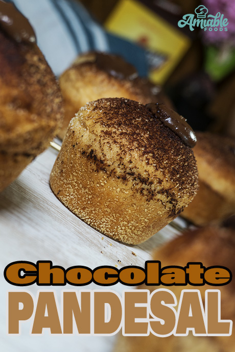 chocolate bread roll with chocolate sprinkles