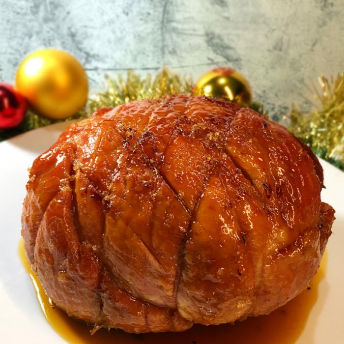 christmas ham with pineapple honey galze