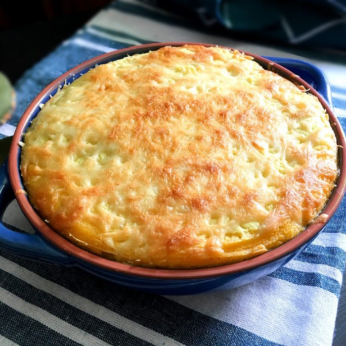 cottage pie on a baking dish