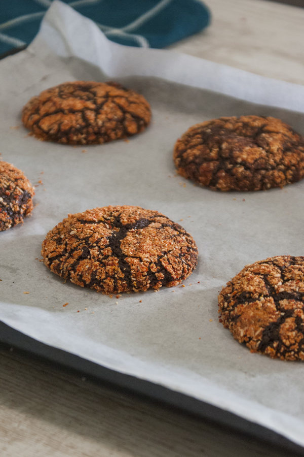 baked crinkles in a tray