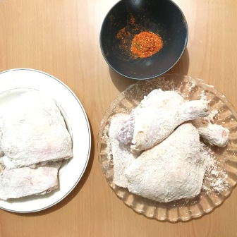 chicken-covered-flour