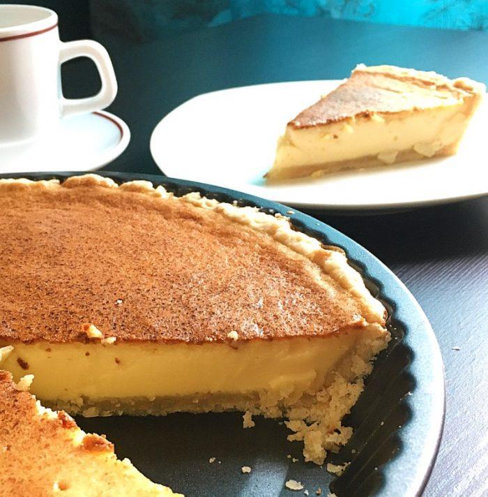 egg pie sliced
