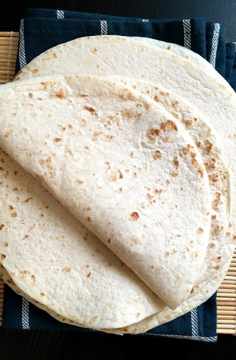 flour tortillas on top of table