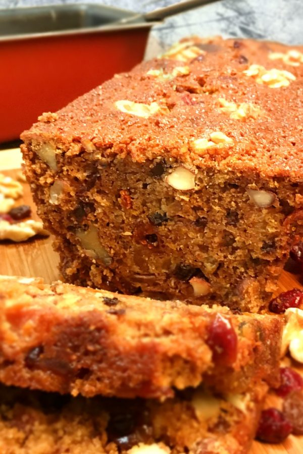 fruitcake with nuts