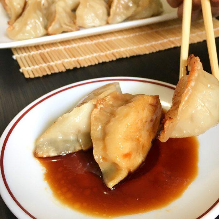 gyoza and dipping sauce
