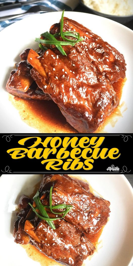 honey barbecue ribs pinterest image