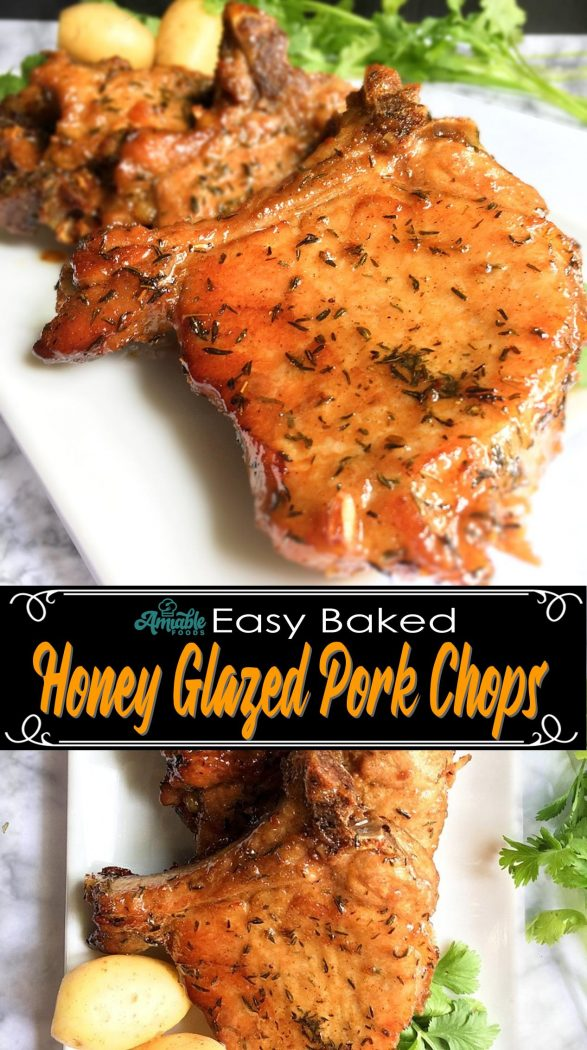 honey glazed pork chops pinterest