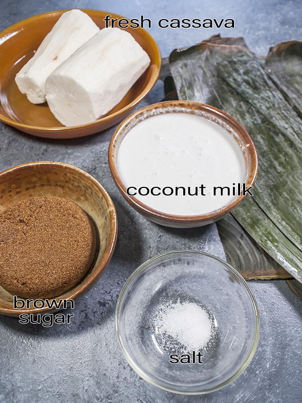 ingredients for suman balanghoy