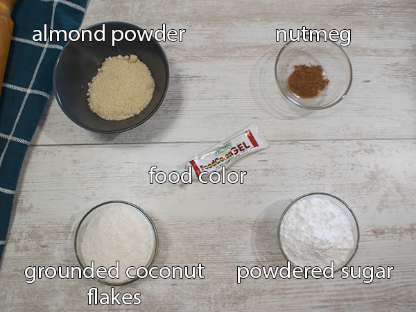 coating ingredients on top of table