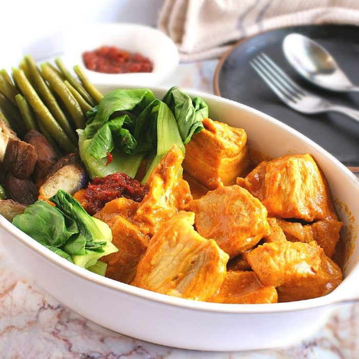 kare kare with vegetables