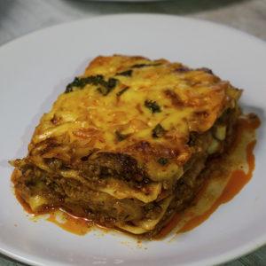 lasagna in a plate